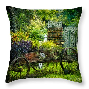 In The Garden Throw Pillow by Judi Bagwell