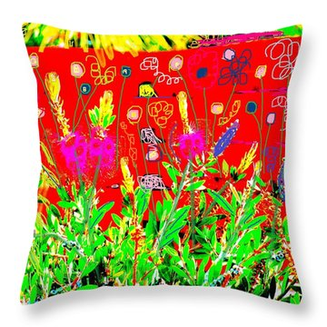 Throw Pillow featuring the photograph In The Garden Of My Heart by Anita Dale Livaditis
