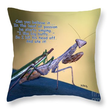 In The Heat Of Passion-2 Throw Pillow