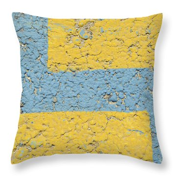 In The Land Of Pebbles Throw Pillow by Luke Moore