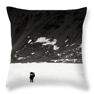 In The Mountains Throw Pillow by Konstantin Dikovsky