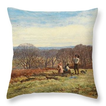 In The New Forest Throw Pillow by Heywood Hardy