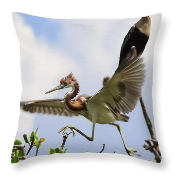 In The Rookery Throw Pillow by Patrick M Lynch