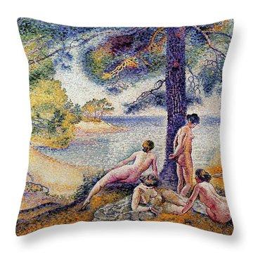 In The Shade Throw Pillow by Henri-Edmond Cross