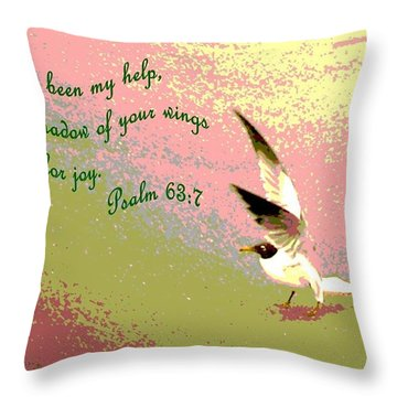 In The Shadow Of Your Wings Throw Pillow