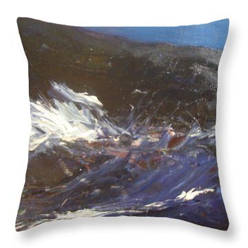 In The Wake Of The Ship Throw Pillow