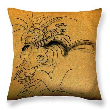 Inca 2 Throw Pillow