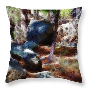 Incinerator Ridge Fractal Throw Pillow