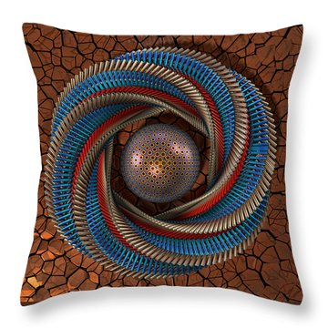 Throw Pillow featuring the digital art Inclusion by Manny Lorenzo