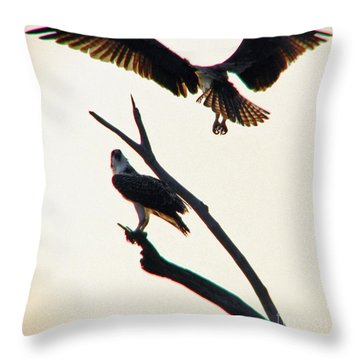 Incoming Throw Pillow by Beth Phifer