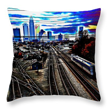 Incoming Throw Pillow by Melanie Kirdasi