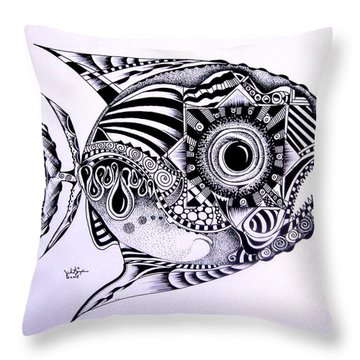 Incomplete Anger Throw Pillow