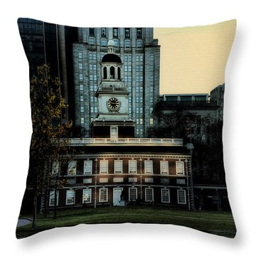 Independence Hall - The Cradle Of Liberty Throw Pillow by Bill Cannon