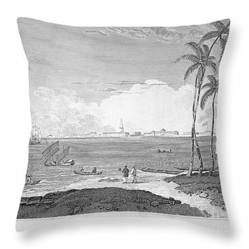 India: Calcutta, C1830 Throw Pillow by Granger