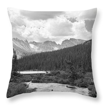 Indian Peaks Summer Day Bw Throw Pillow by James BO  Insogna