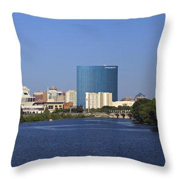Indianapolis - D007990 Throw Pillow by Daniel Dempster