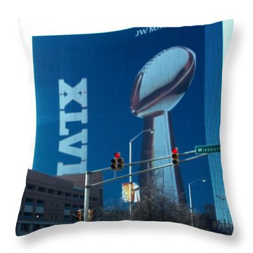 Indianapolis Marriott Trubute To Super Bowl 46 Throw Pillow