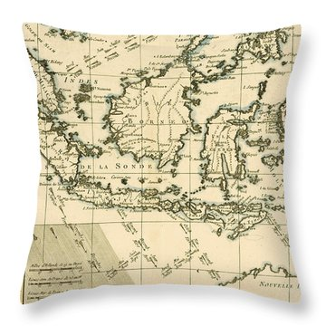 Indonesia And The Philippines Throw Pillow by Guillaume Raynal