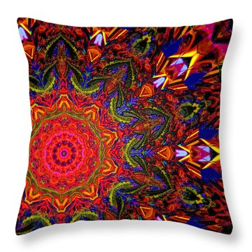 Indra's Necklace Throw Pillow