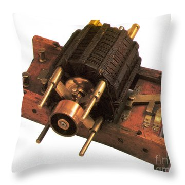 Induction Motor Throw Pillow by Photo Researchers