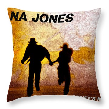 Indy And Marions Escape Throw Pillow by David Lee Thompson
