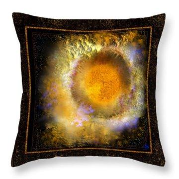Ineffable Fire Throw Pillow by Mathilde Vhargon