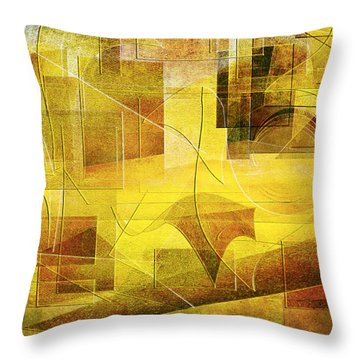 Throw Pillow featuring the digital art Infinite Summer by Jean Moore