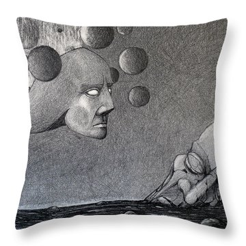 Infinity Of The Universe Throw Pillow