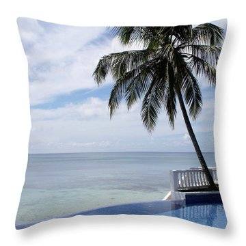 Throw Pillow featuring the photograph Infinity Pool Big Corn Island Nicaragua by John  Mitchell