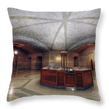 Throw Pillow featuring the photograph Info Desk by Art Whitton