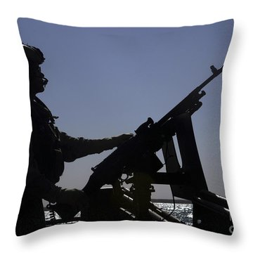 Information Systems Technician Manning Throw Pillow by Stocktrek Images