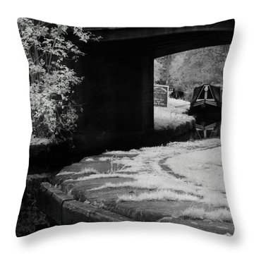 Infrared At Llangollen Canal Throw Pillow