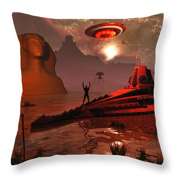 Inhabitants Of The Fabled City Throw Pillow by Mark Stevenson