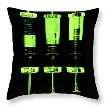 Injection Throw Pillow by Michal Boubin