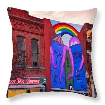 Inland Octopus Throw Pillow by Dan McManus