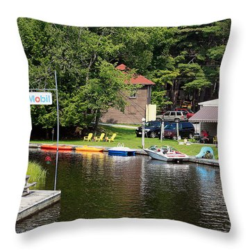 Inlet On Seven Lakes Throw Pillow by Ann Murphy