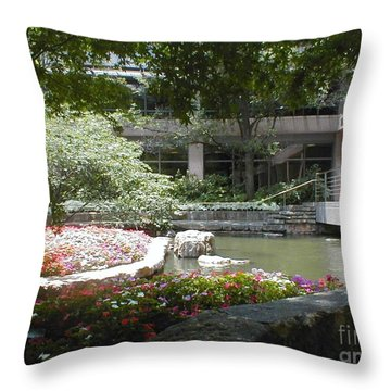 Inner Courtyard Throw Pillow