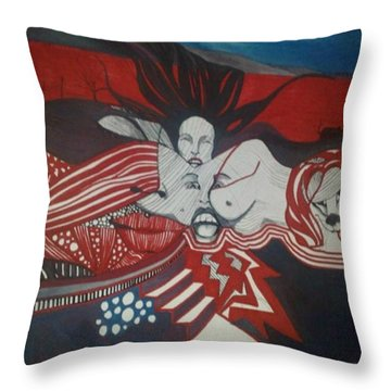 Inner Landscape Throw Pillow by Susan  Solak