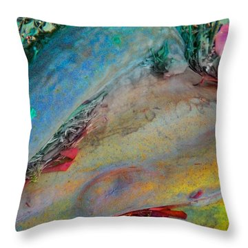 Throw Pillow featuring the digital art Inner Peace by Richard Laeton