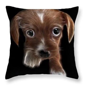 Innocent Loving Eyes	 Throw Pillow by Peter Piatt