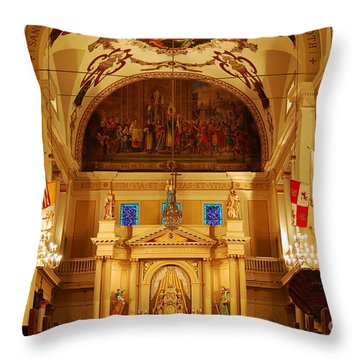 Inside St Louis Cathedral Jackson Square French Quarter New Orleans Throw Pillow by Shawn O'Brien