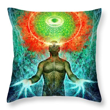 Inside The Inside Throw Pillow by Tony Koehl