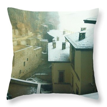 Throw Pillow featuring the photograph Inside The Monastery by Lou Ann Bagnall