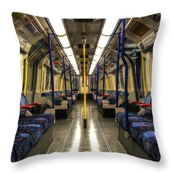 Inside Tube Train Throw Pillow