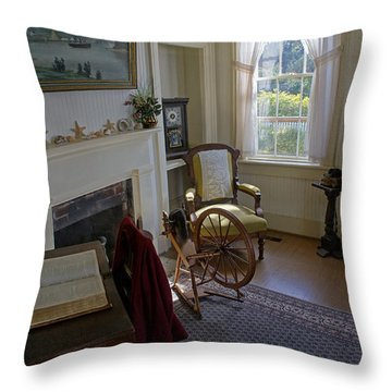 Inside Yaquina Bay Lighthouse Throw Pillow by Mick Anderson