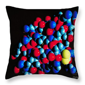 Insulin Molecule Throw Pillow by Science Source