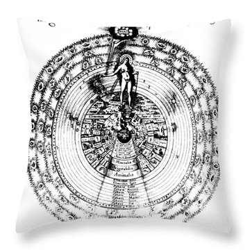Integrae Naturae, 17th Century Throw Pillow by Science Source