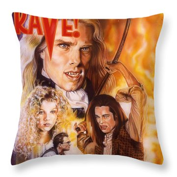 Interview With The Vampire Throw Pillow by Timothy Scoggins