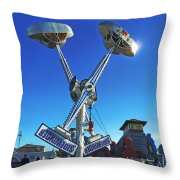 Throw Pillow featuring the photograph Into The Blue by Steve Taylor