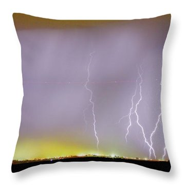 Into The Colorful Night Throw Pillow by James BO  Insogna